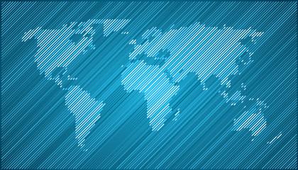 World map diagonal Blue EPS 10