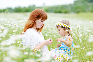 fun in field of daisies