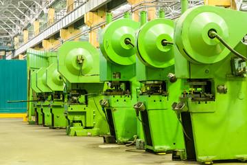 Empty workshop on factory