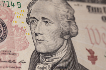 ten dollar bill Hamilton
