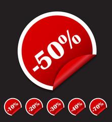 Sale Sticker, Banner Template Set Vector Illustration