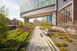 The High Line popular linear park built on the elevated train - 78076553