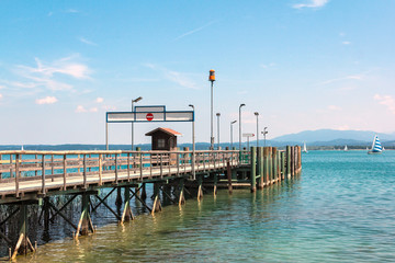 Pier on Lake Chiemsee