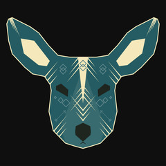 Abstract geometric vector deer for use in design