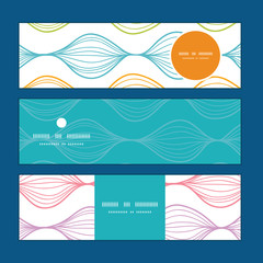 Vector colorful horizontal ogee horizontal banners set pattern