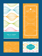 Vector colorful horizontal ogee vertical frame pattern