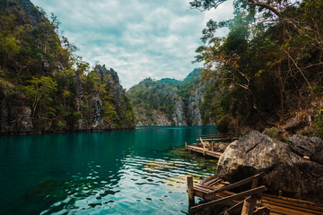 Pier in Lake Kayangan, Philippines