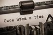 Leinwanddruck Bild - Old vintage typewriter