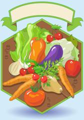 Alimenti Vegetariani con Banner