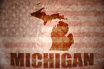 Vintage michigan map