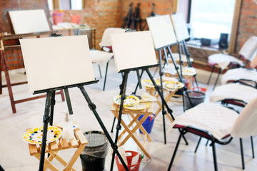 Easel in the studio
