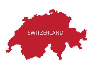 red map of Switzerland