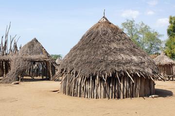 Dorf der Karo, Äthiopien, Afrika