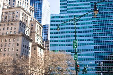 New York City skyscrapers at Manhattan