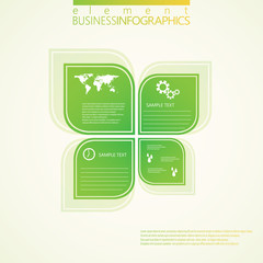Modern green infographic design. Vector illustration