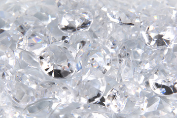 close up of the diamonds