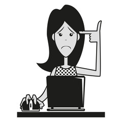 Sad girl, cyber bullying awareness, internet hazards