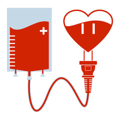 Blood donation, power of love can save lives, concept