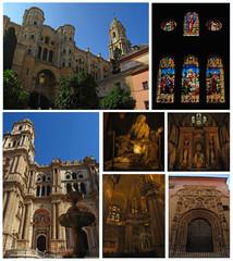 Catedral de Málaga, collage, Andalucía