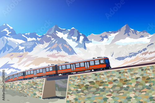 Train in high mountains © chaoss