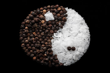 Sal y pimienta yin yang