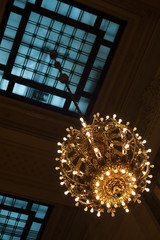 Exquisite lamp inside Grand Central Terminal, NYC