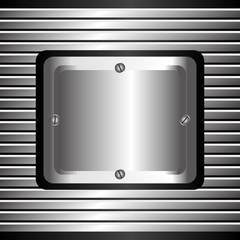 Metal design, vector illustration.