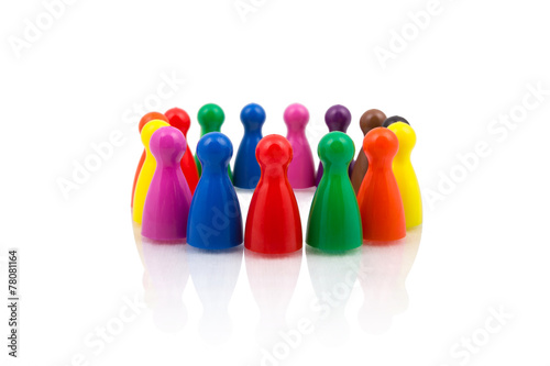Colorful figures in circle - 78081164