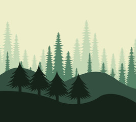 Forest design, vector illustration.