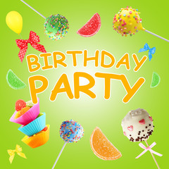 Colorful Birthday Party poster