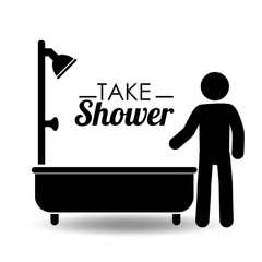 Shower design, vector illustration.