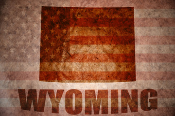 Vintage wyoming map