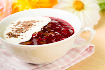 Rote Grütze - red fruit jelly