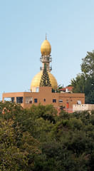 Mosque with golden dome