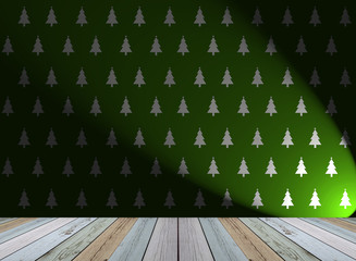 christmas tree wallpaper for background with light