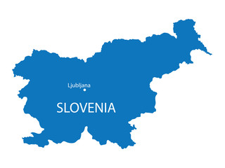 blue map of Slovenia