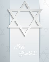 Abstract Happy Hanukkah card. Vector eps10.
