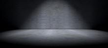 """Постер, картина, фотообои """"Fondo pared y suelo de cemento en la oscuridad"""""""