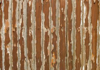 Rusted galvanized iron plate