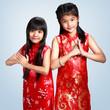 Two little asian girl
