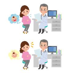 医師 病院 診察 妊婦