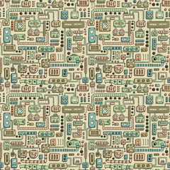 Appliances seamless pattern