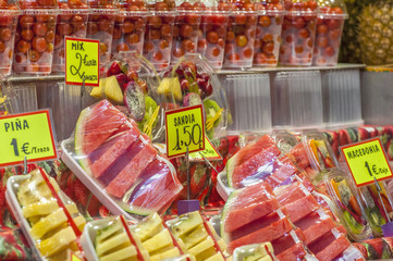 Boqueria Market in Barcelona, Spain