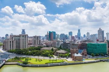 beautiful shanghai by the suzhou riverside