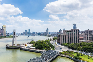 cityscape of shanghai in daytime