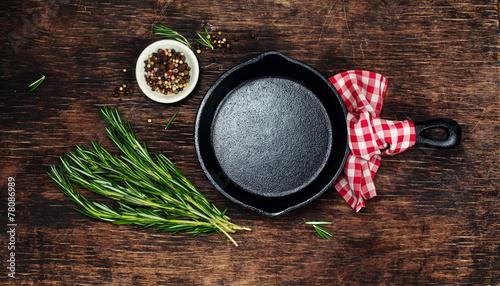 Deurstickers Klaar gerecht Ingredients for cooking