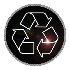 Monochrome Recycle Emblem