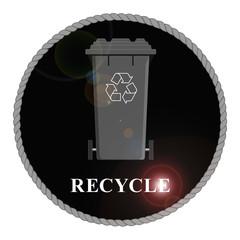 Monochrome Recycle Bin