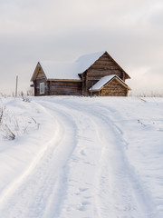 lonely wooden house