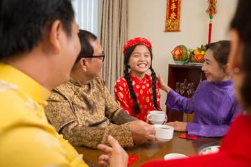 Cheerful Vietnamese girl